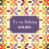 Floral birthday party invitation Royalty Free Stock Photography