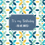 Floral birthday party invitation Stock Images