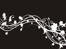 Floral black abstract Royalty Free Stock Photo