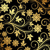 Floral. Black background with floral ornaments Royalty Free Stock Photo