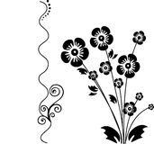 Floral black background Stock Photo