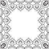 Floral black frame against white Royalty Free Stock Photography