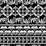 Floral black seamless Stock Images