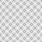 Floral black vintage pattern Royalty Free Stock Images