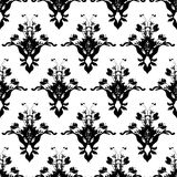 Floral black wall Royalty Free Stock Photography
