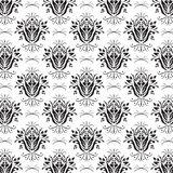 Floral Black & White Background Royalty Free Stock Image