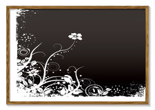 Floral blackboard Royalty Free Stock Image