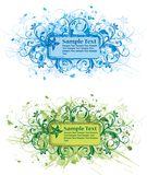 Floral blank. Floral vector elements for design Royalty Free Illustration