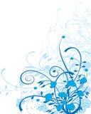 Floral bleu illustration de vecteur