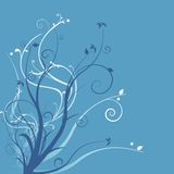 FLORAL BLUE Royalty Free Stock Images
