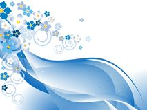 Floral blue abstract design Stock Image