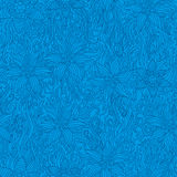Floral blue background Stock Images