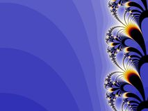 Floral blue background design. Blue background design with floral motives in right Royalty Free Stock Photography