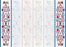 Floral blue background with white hearts broderie and white background Stock Photo