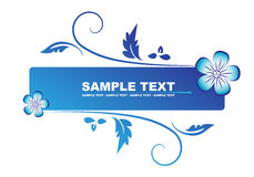 Floral blue banner Stock Photos