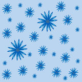 Floral blue cornflowers nature abstract background Royalty Free Stock Images