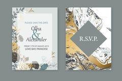 Floral blue frame design. Wedding invitation arrangement. Botanical composition. Hand drawn flowers, roses. Composition for card, invitation, save the date royalty free illustration