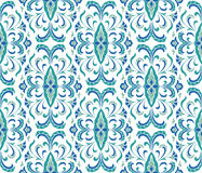 Floral blue ornament. Stock Image