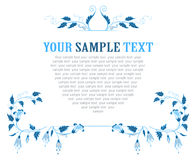 Floral blue pattern Royalty Free Stock Image