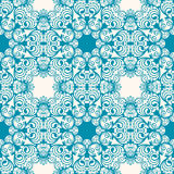 Floral blue pattern Stock Photos