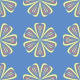 Floral blue seamless pattern. Bright background with colored flower elements. For wallpapers, textile and fabrics Stock Photo