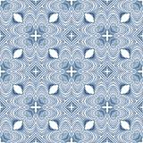 Floral blueprint mediterranian pattern Royalty Free Stock Photos