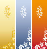Floral Bookmark. Three Floral Bookmark in color vector illustration