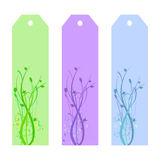 Floral Bookmarks Stock Image