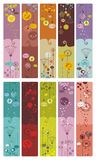 Floral Bookmarks Royalty Free Stock Image