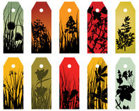 Floral bookmarks. Set of ten vector floral bookmark labels Royalty Free Stock Photos