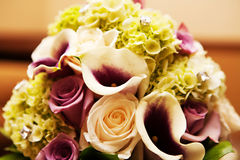 Floral Boquet. Beautiful floral boquet with roses and more Royalty Free Stock Photo