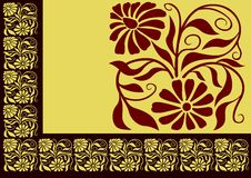 Floral border 01 Royalty Free Stock Images