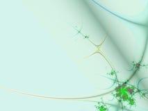 Floral border 01. Digital illustration of floral design on pastel colored background royalty free illustration