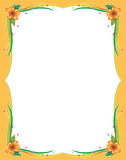 Floral border. A colorful border. Adobe illustrator file is available Royalty Free Stock Photos