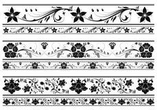Floral border. Collect Floral border, element for design,  illustration Royalty Free Stock Photo