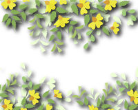 Floral border Stock Photo