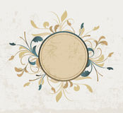 Floral border. A floral oval border on a crackle background Royalty Free Stock Photos