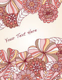 Floral Border. Selection of hand drawn flowers make up border with room for your text Royalty Free Stock Photography