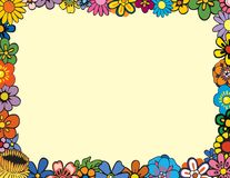 Floral Border. Colorful Floral Border perfect for spring Royalty Free Stock Photo