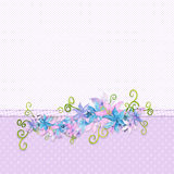 Floral border Royalty Free Stock Photography