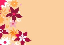 Floral border. With copy space royalty free illustration
