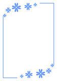 Floral Border. Blue flowers in the top and bottom corner vector illustration