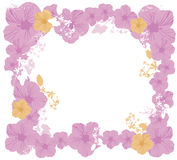 Floral border. Illustration of a floral border royalty free illustration
