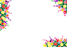 Floral border. Adobe illustrator file is available Stock Image