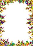 Floral border. Adobe illustrator file is available Stock Photography