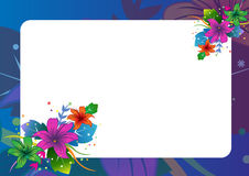 Floral border. Nice page layout design. Adobe illustrator file is available Stock Images