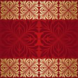 Floral border. Abstract flower beckground. Royalty Free Stock Image