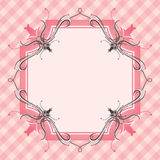 Floral border and background. A background illustration of a floral border for background use Royalty Free Stock Photo