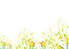 Floral border background. Adobe illustrator file is available Royalty Free Stock Photography