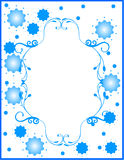 Floral border with blue flowers. Floral border with blue little stars and flowers Stock Image